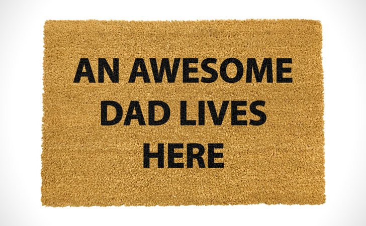 Awesome Dad Lives Here. This Doormat ...
