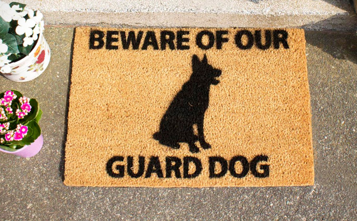funniest doormats - Beware Of Our Guard