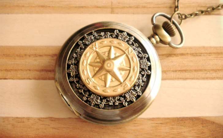 Compass Pocket Watch - Pocket Watches For Men