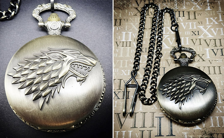 Dire Wolf Game Of Thrones Pocket Watch