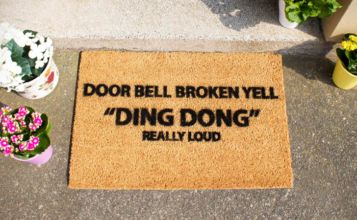 funniest doormats - Doorbell Broken Door Mat