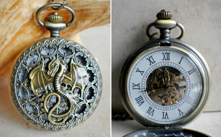 Dragon Pocket Watch - Pocket Watches For Men