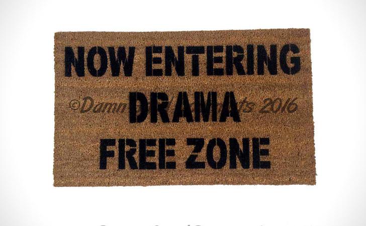 Drama Free Zone Doormat
