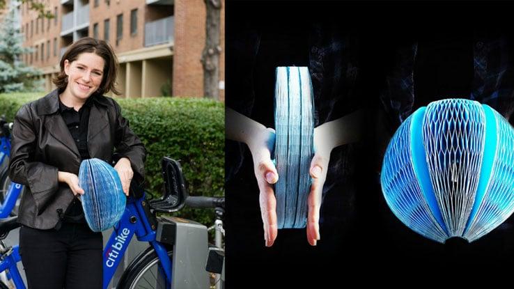 Eco Helmet: Folding Recyclable Helmet