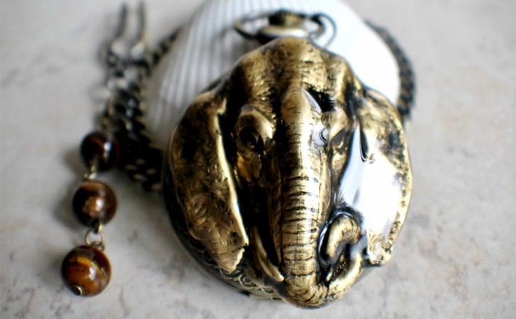 Elephant Pocket Watch