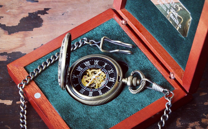 Engraved Steampunk Mechanical Pocket Watch