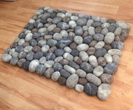 Felt Stone Pebble Rugs