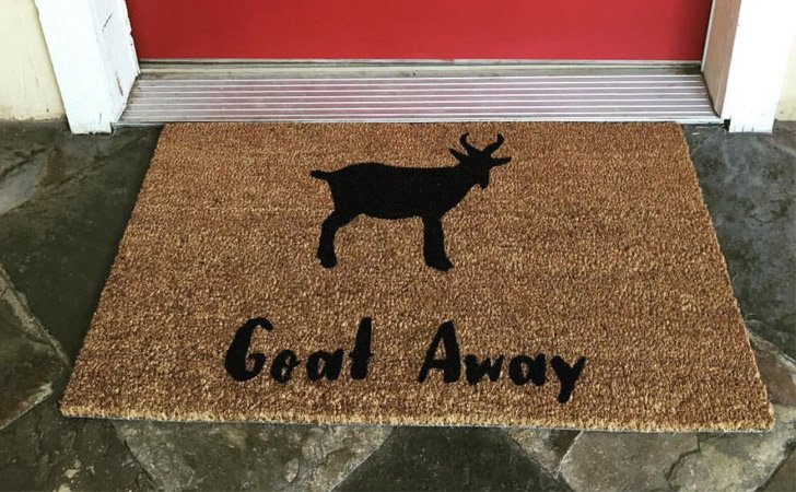 We still maintain that the funniest doormats are the ones that combine puns animals and grumpy misanthropic messages. Oh look that\u0027s another one. & 50 Of The Funniest Doormats To Greet Your Guests! ( Funny Doormats )