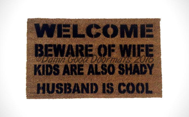 Husband Is Shady Dog Is Cool Doormat