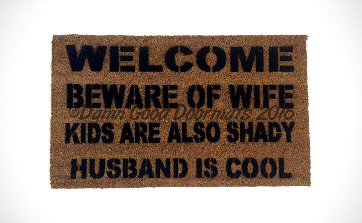 Husband Is Shady Dog Is Cool Doormat