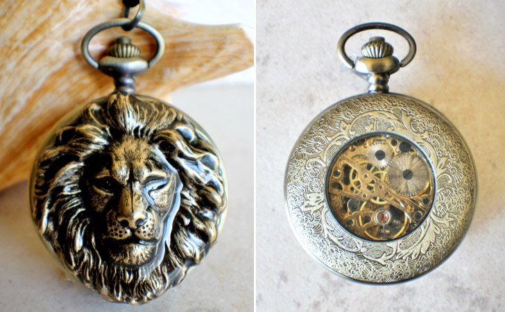 Lion Pocket Watch
