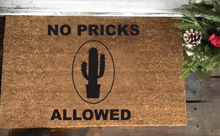 No Pricks Allowed - funniest doormats