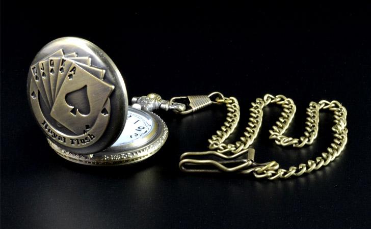 Personalised Engraved Gamblers Pocket Watch