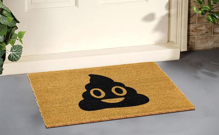 Poop Emoji Doormat - funniest doormats