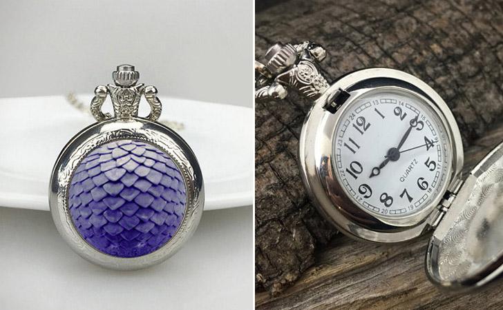 Purple Dragon Scale Pocket Watch