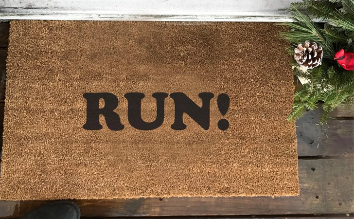 Run! Doormat - funniest doormats