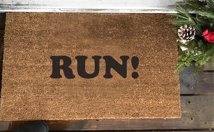 Run! Doormat - funniest doormats