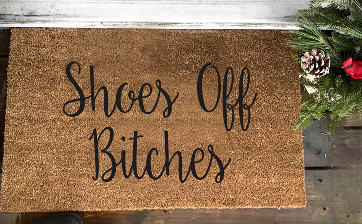 Shoes Off B*Tches Doormat