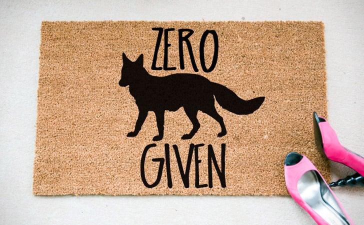 Zero Fox Given Doormat   Funniest Doormats