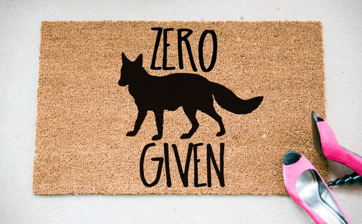 Zero Fox Given Doormat - funniest doormats