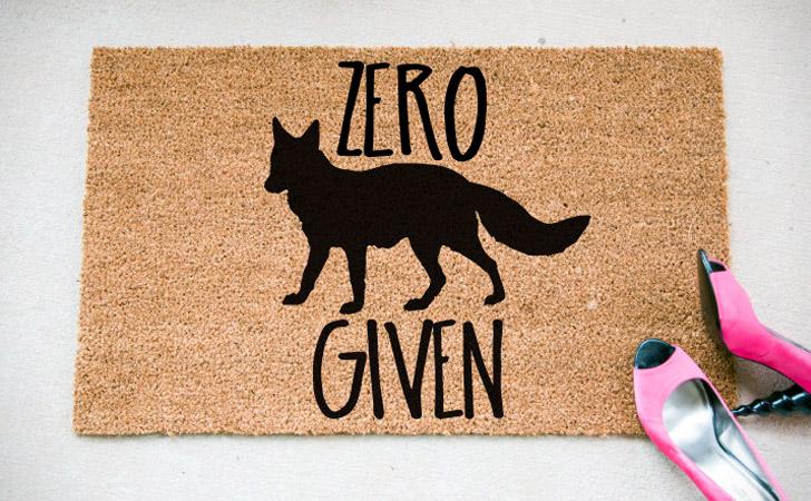Zero Fox Given Doormat - funniest doormats