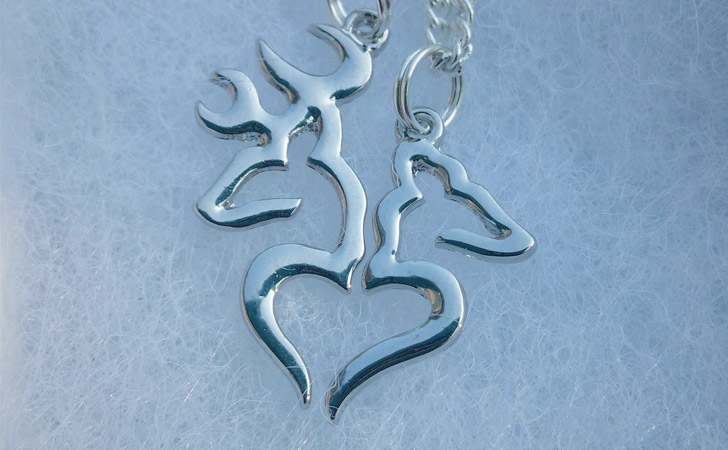 Buck And Doe Couples Set - Matching Necklaces For Couples