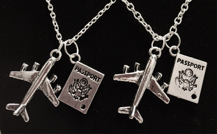 Couples Travel Necklaces - Matching Necklaces For Couples