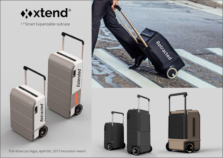 Expandable Smart Carry-On Luggage