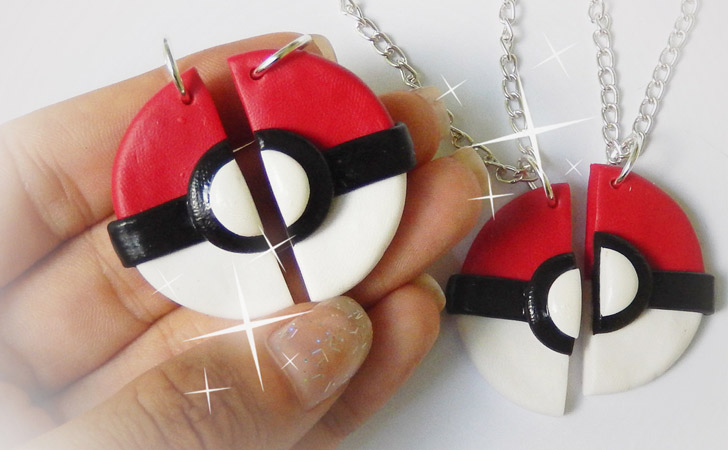 Geeky Gamer Pokemon Couples Necklace Set
