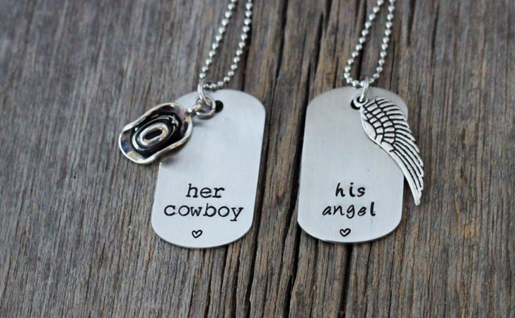 Her Cowboy His Angel Necklaces