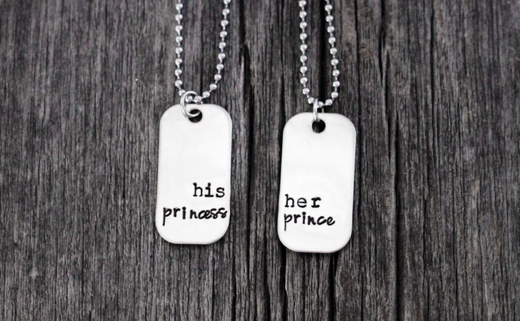 His Princess & Her Prince Couples Necklaces