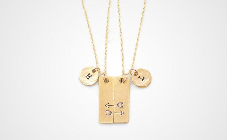 Matching Arrow Pendant Necklaces