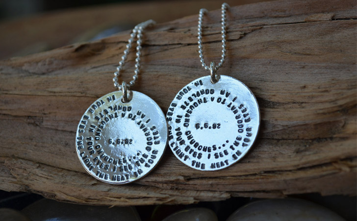 Personalised Message Couples Pendants