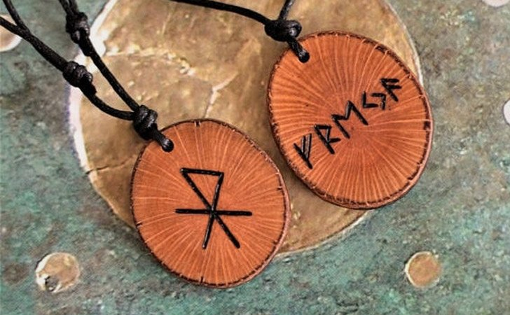 Personalised Viking Runes Amulets - Matching Necklaces For Couples