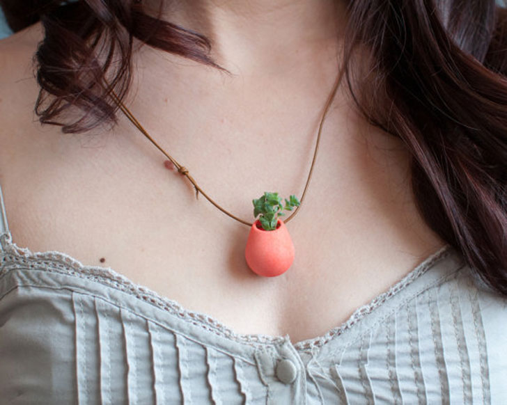 Wearable Planter Necklaces