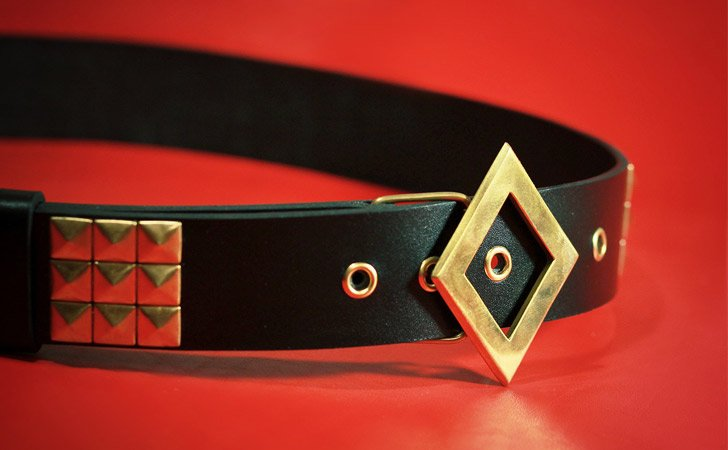 Authentic Leather Harley Quinn Diamond Belt - Harley Quinn Costume Accessories