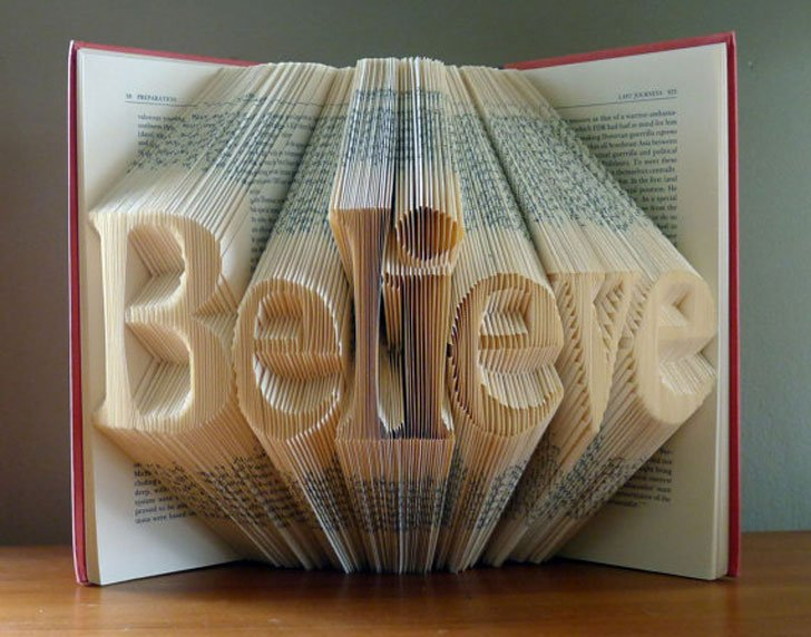 Custom-Made Folded Book Art Gifts
