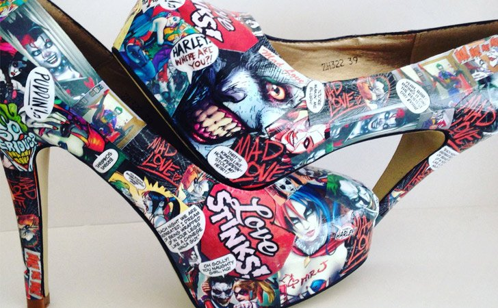 Custom Made Harley Quinn High Heel Shoes