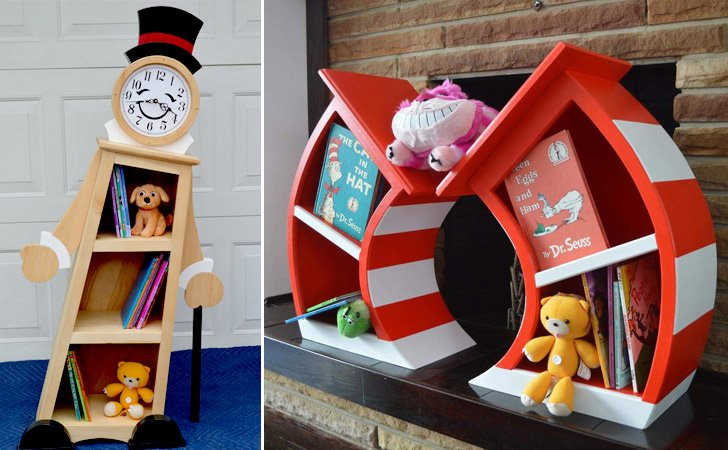 Dr. Suess Bookshelves