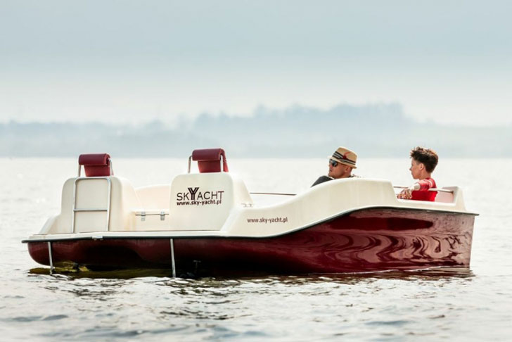 Electric Joystick Controlled Yacht