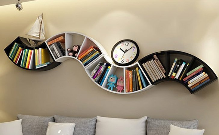 fan shaped bookshelf - Funky Bookshelves