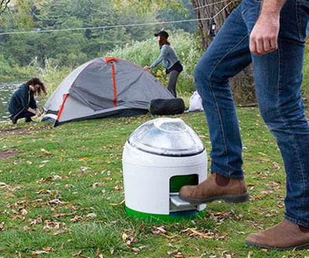 Foot-Powered Portable Washing Machine