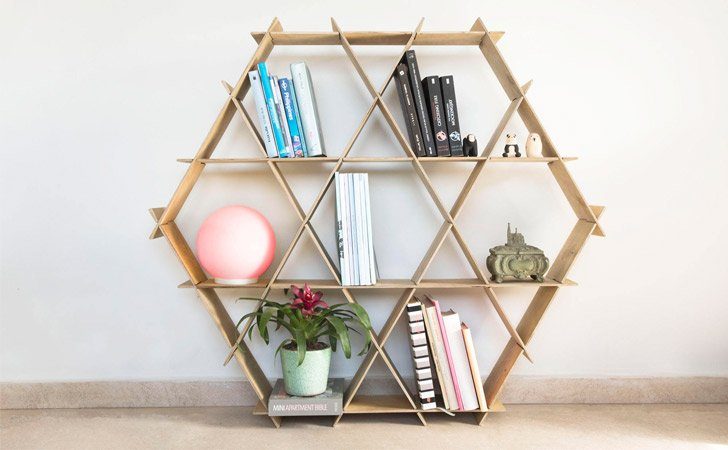 Geometric Ruche Shelving Units