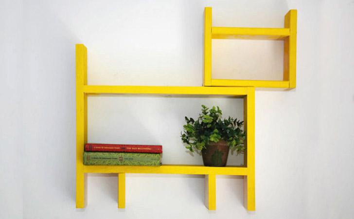 Handmade Animal Shelf