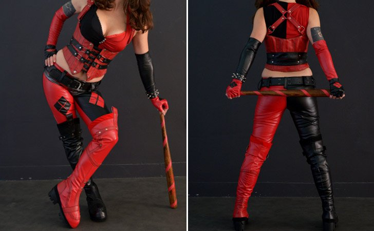 Harley Quinn Arkham City Complete Costume - Harley Quinn Costume Accessories