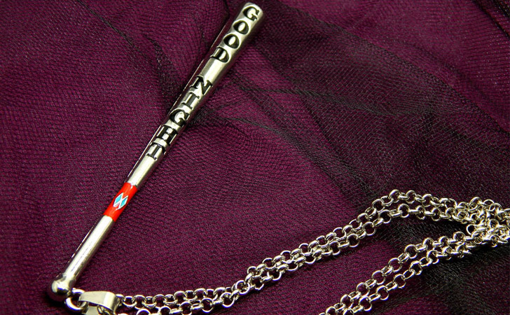 Harley Quinn Baseball Bat Necklace