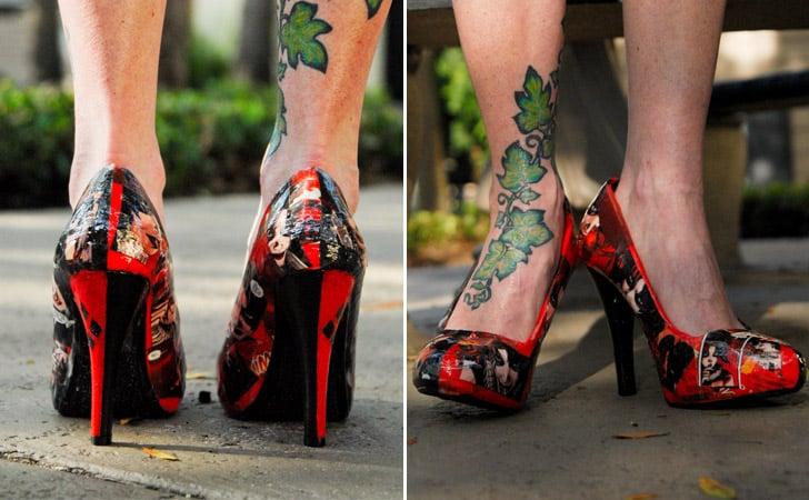 Harley Quinn Heels - Harley Quinn Costume Accessories