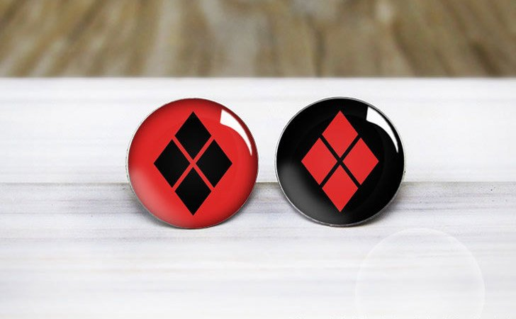 Harley Quinn Stud Earrings