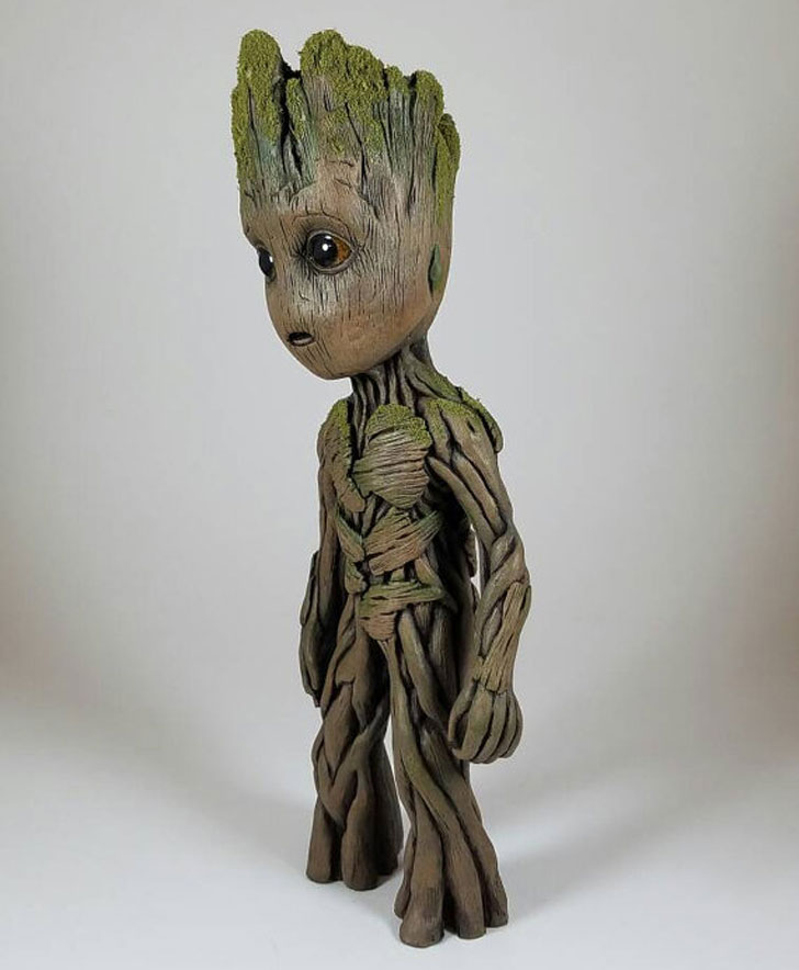 Life-Sized Baby Groot Sculpture