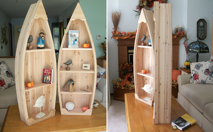 Nautical Wooden Boat Shelves